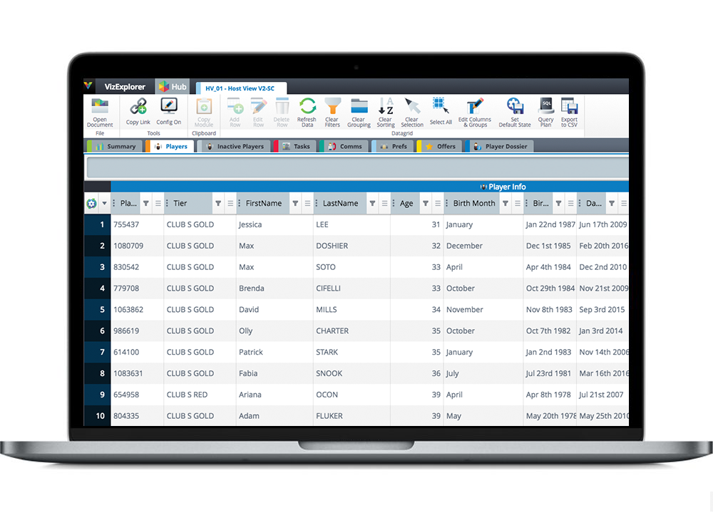 Centralize all player data for sales intelligence